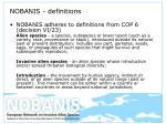 nobanis definitions