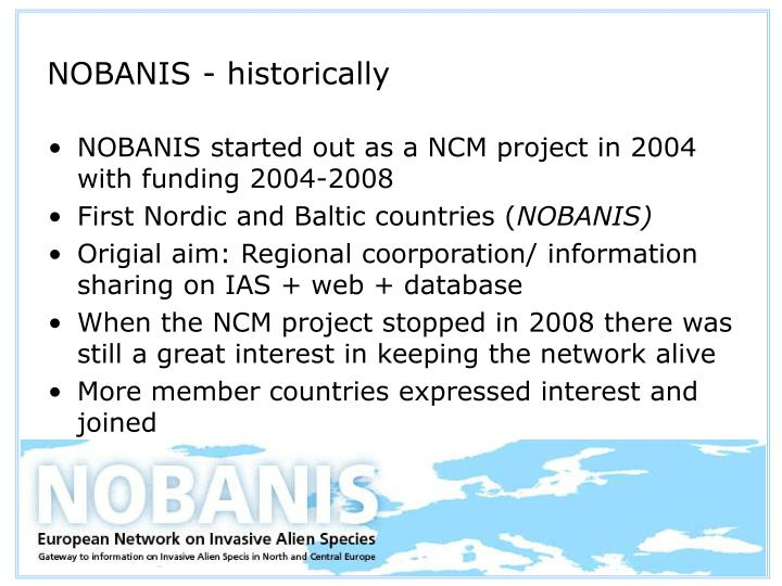 NOBANIS - historically