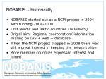 nobanis historically