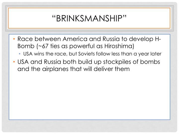 """Brinksmanship"""