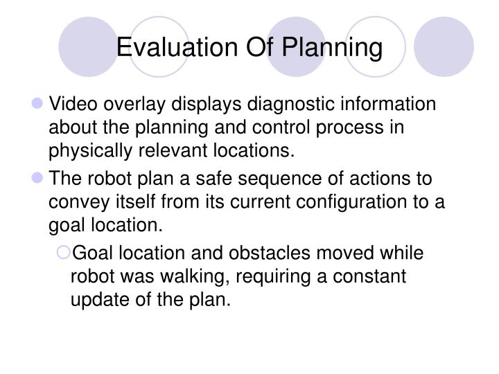 Evaluation Of Planning