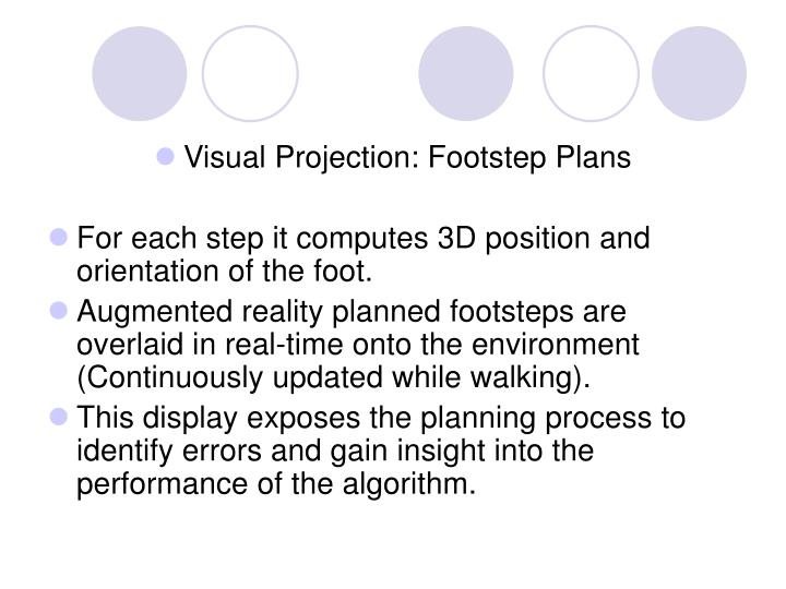 Visual Projection: Footstep Plans