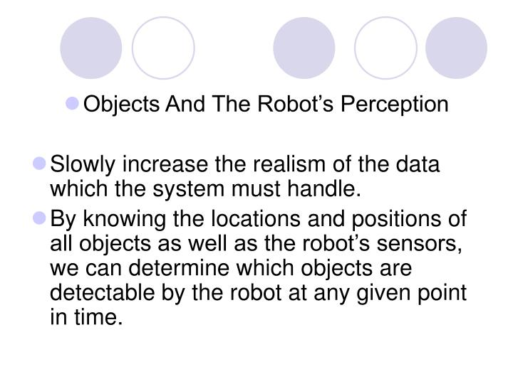 Objects And The Robot's Perception