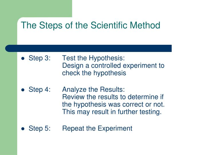 The Steps of the Scientific Method
