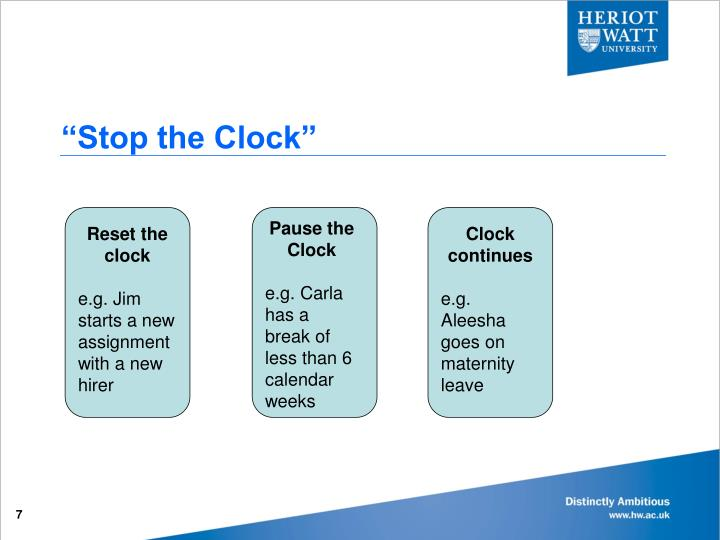 """Stop the Clock"""