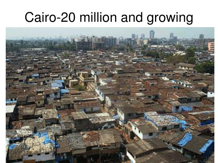 Cairo-20 million and growing