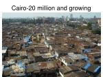 cairo 20 million and growing