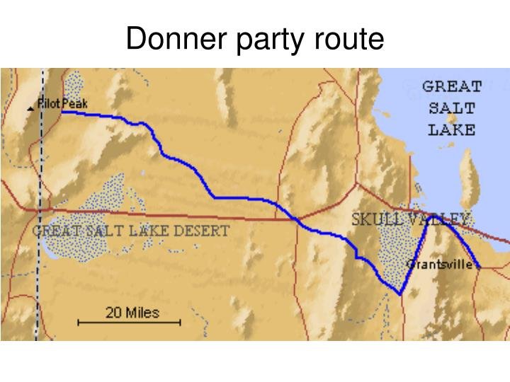 Donner party route