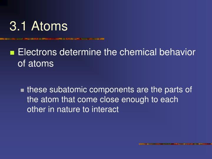 3.1 Atoms