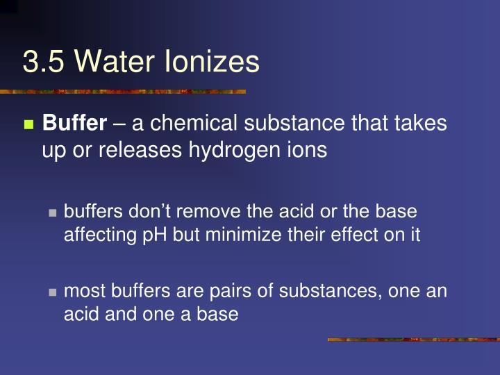 3.5 Water Ionizes