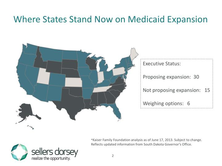 Where States Stand Now on Medicaid Expansion