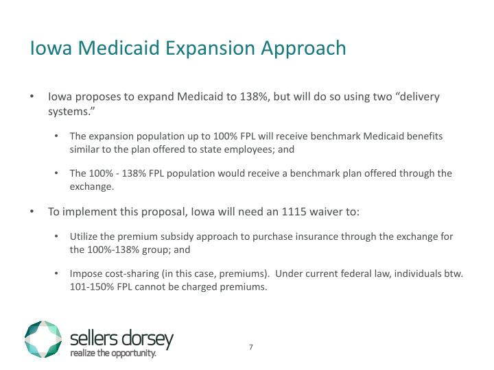 Iowa Medicaid Expansion Approach