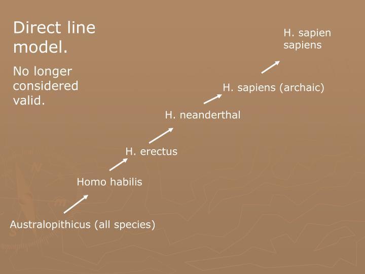 Direct line model.