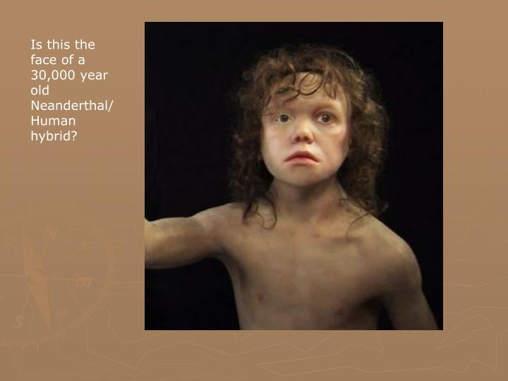 Is this the face of a 30,000 year old Neanderthal/Human hybrid?