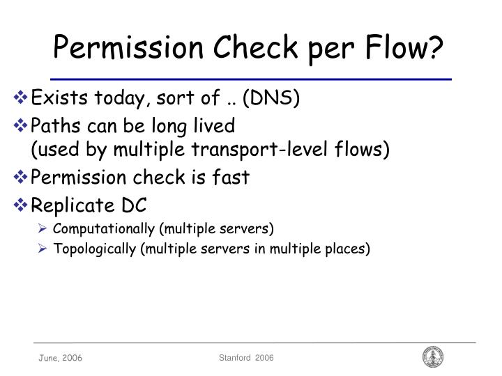 Permission Check per Flow?