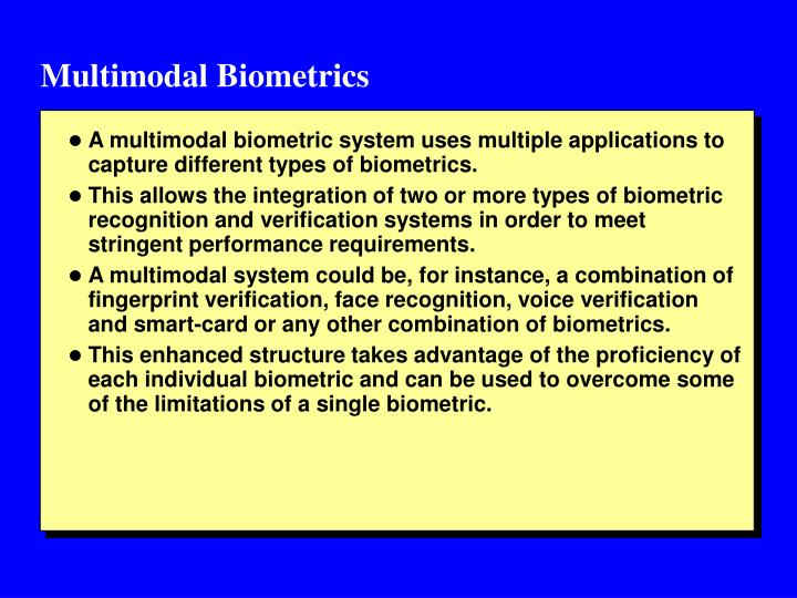 an introduction to the analysis of biometrics A thorough risk analysis is necessary  the benefits of biometrics essay  introduction biometrics can be described as an identity verification or automatic.