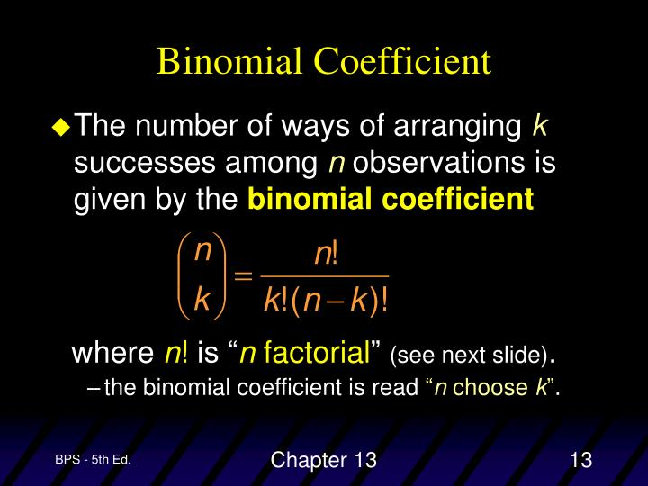 Binomial Coefficient