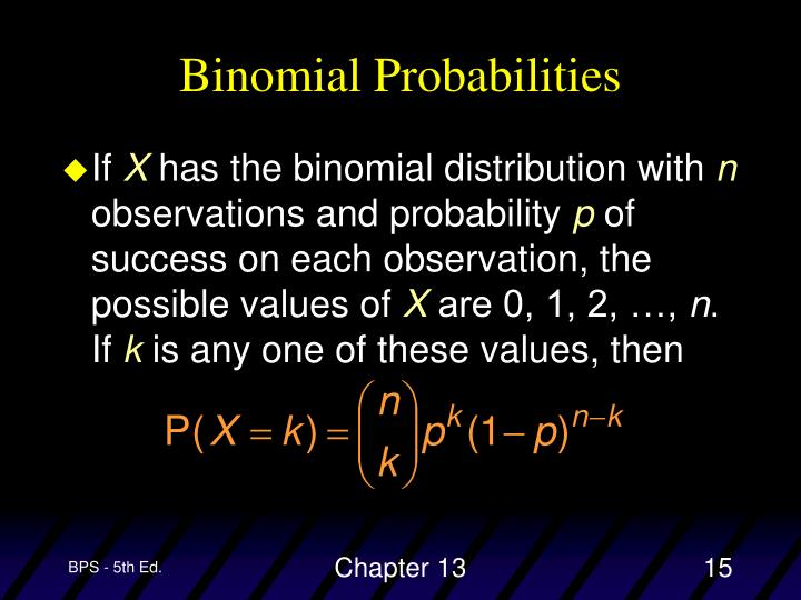 Binomial Probabilities