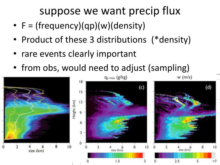 suppose we want precip flux