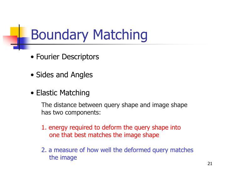 Boundary Matching