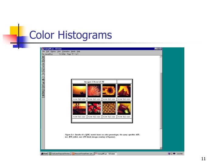 Color Histograms