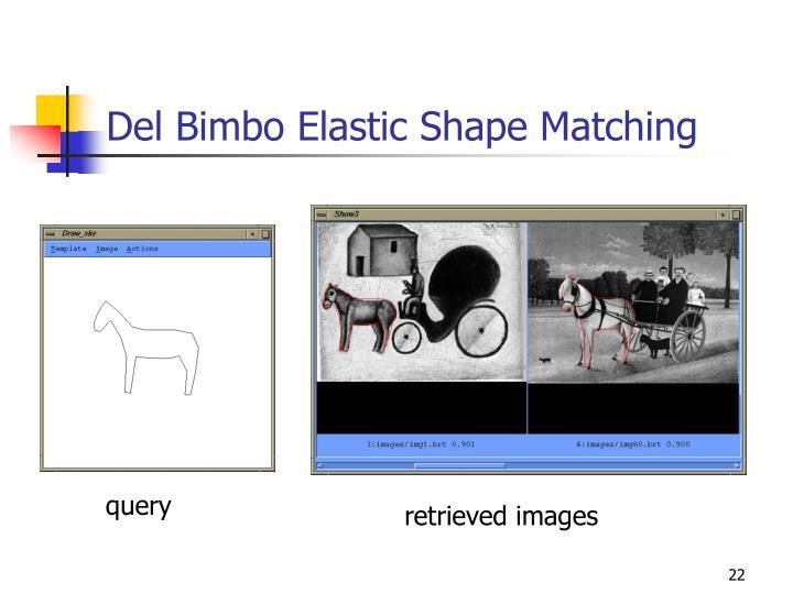 Del Bimbo Elastic Shape Matching