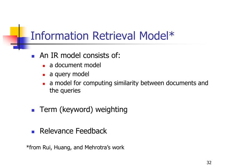 Information Retrieval Model*