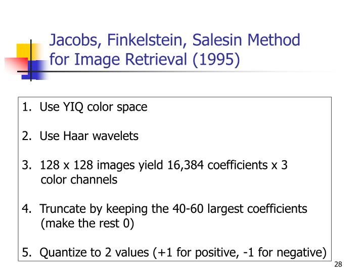 Jacobs, Finkelstein, Salesin Method