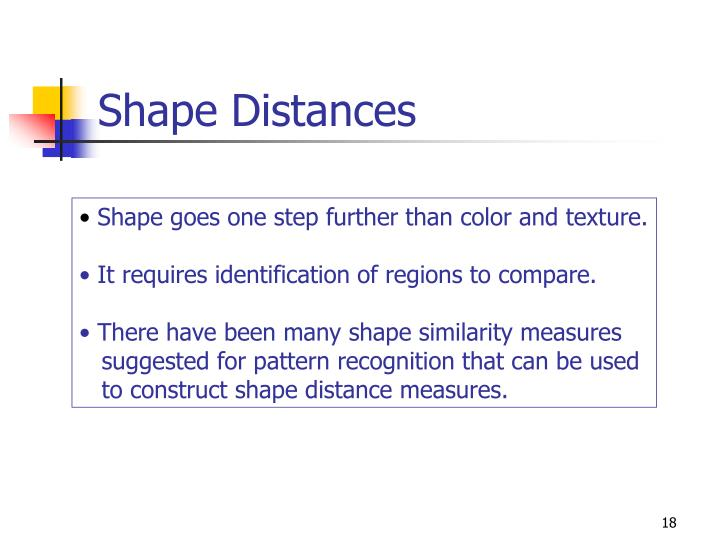 Shape Distances