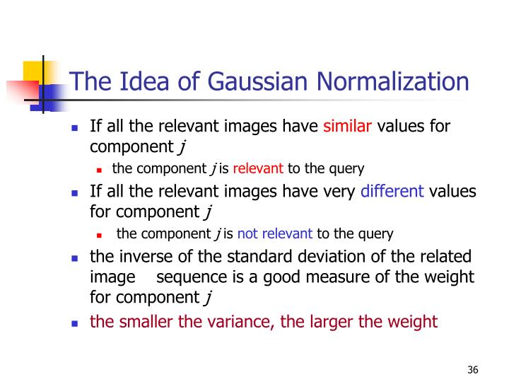 The Idea of Gaussian Normalization