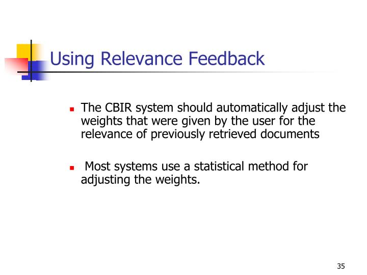 Using Relevance Feedback