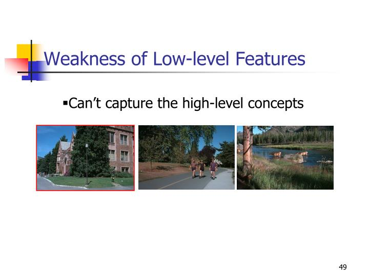 Weakness of Low-level Features