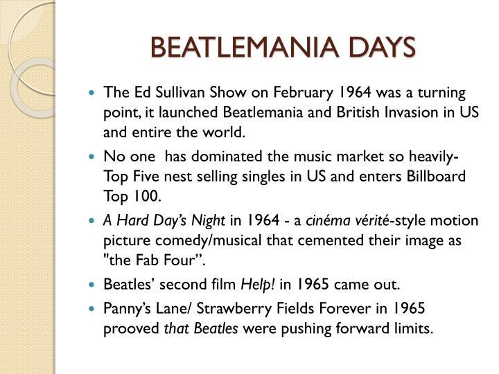 BEATLEMANIA DAYS