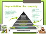 responsibilities of a company