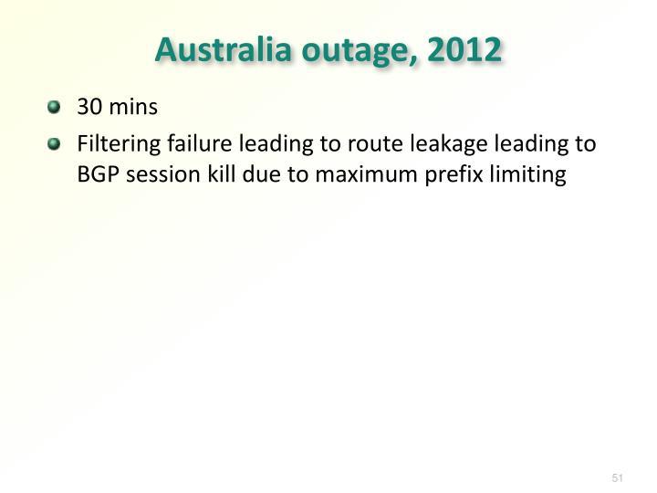 Australia outage, 2012