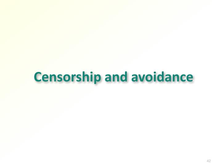 Censorship and avoidance