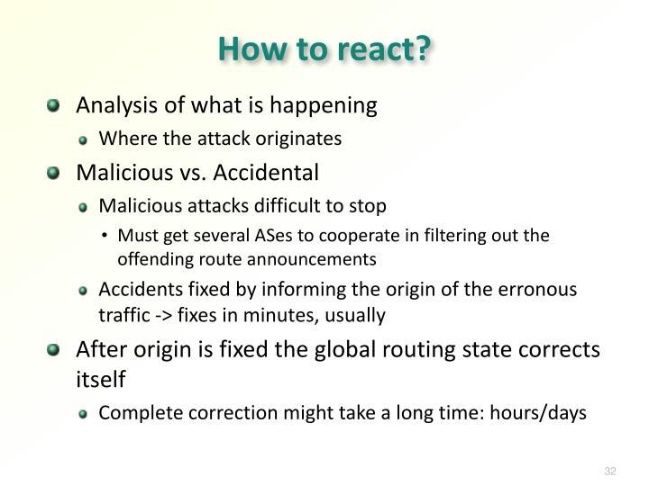 How to react?