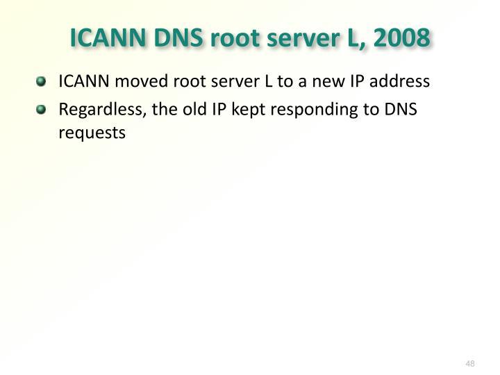 ICANN DNS root server L, 2008