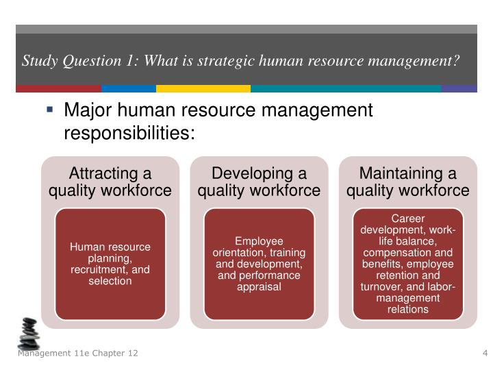 Study Question 1: What is strategic human resource management?
