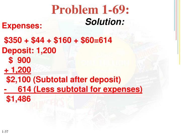 Problem 1-69: