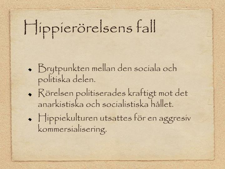 Hippierörelsens fall