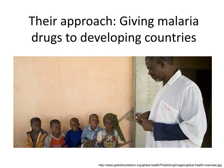 Their approach: Giving malaria drugs to developing countries
