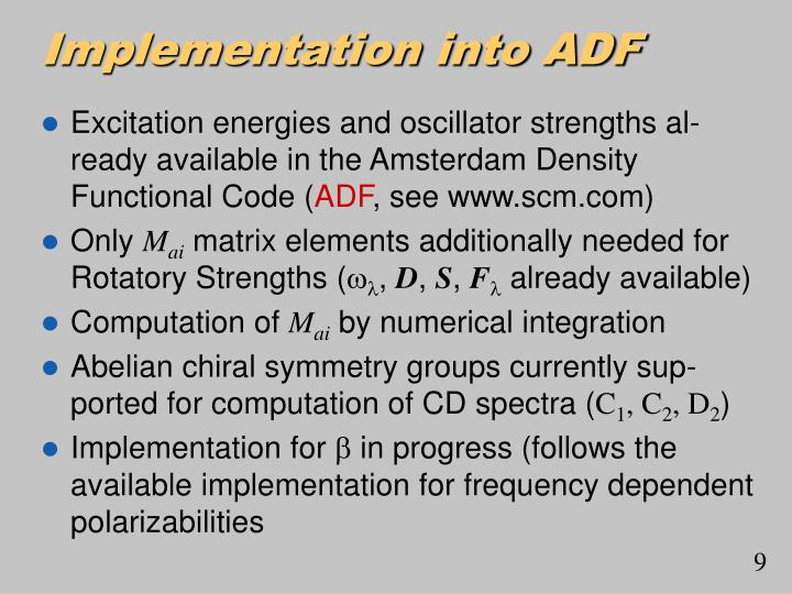 Implementation into ADF