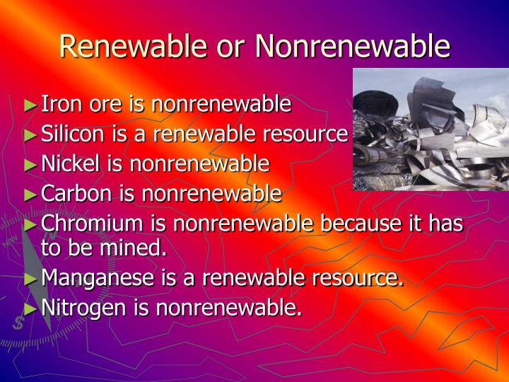 Renewable or Nonrenewable