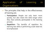 application of learning in organisations3
