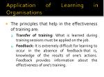 application of learning in organisations4
