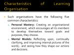 characteristics of learning organisation1