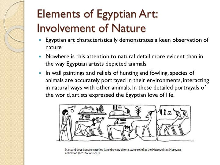 Elements of Egyptian Art:  Involvement