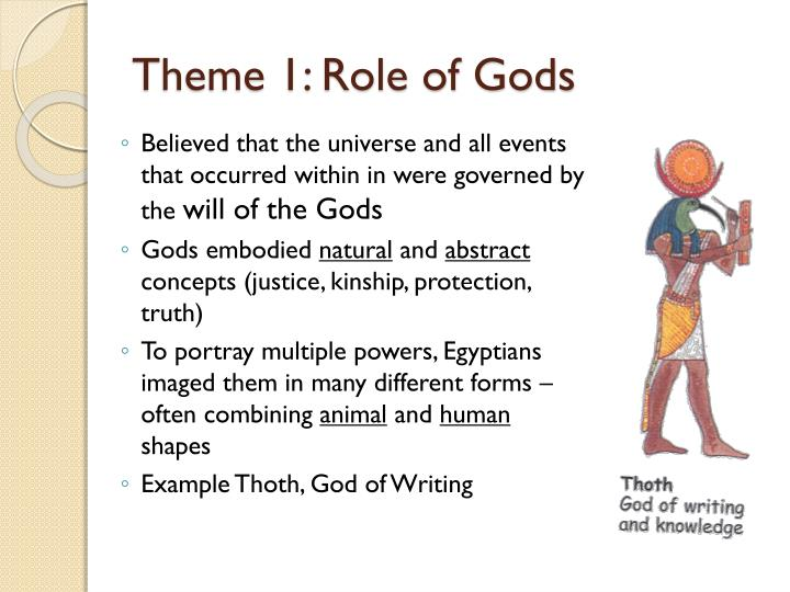 Theme 1 role of gods