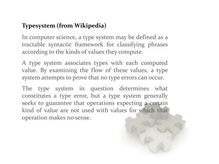 Typesystem